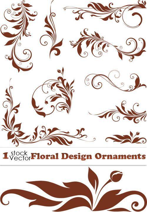 """Векторный орнамент, завитки, цветочный декор Floral Design Ornaments Vector """" Выпускные фотокниги, детские портреты, свадебные ф:"""