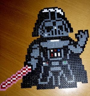 Darth Vader Star Wars /  Perler Beads - Hama perlen - Bügelperlen