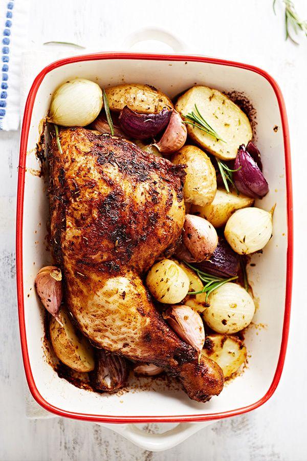 Pollo Al Horno Cómo Lograr Que Quede Un Plato Jugoso Y Crujiente Recetas De Pollo Al Horno Plato De Comida Saludable Comidas Faciles Con Pollo