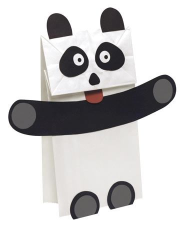 Panda Puppet Craft Project