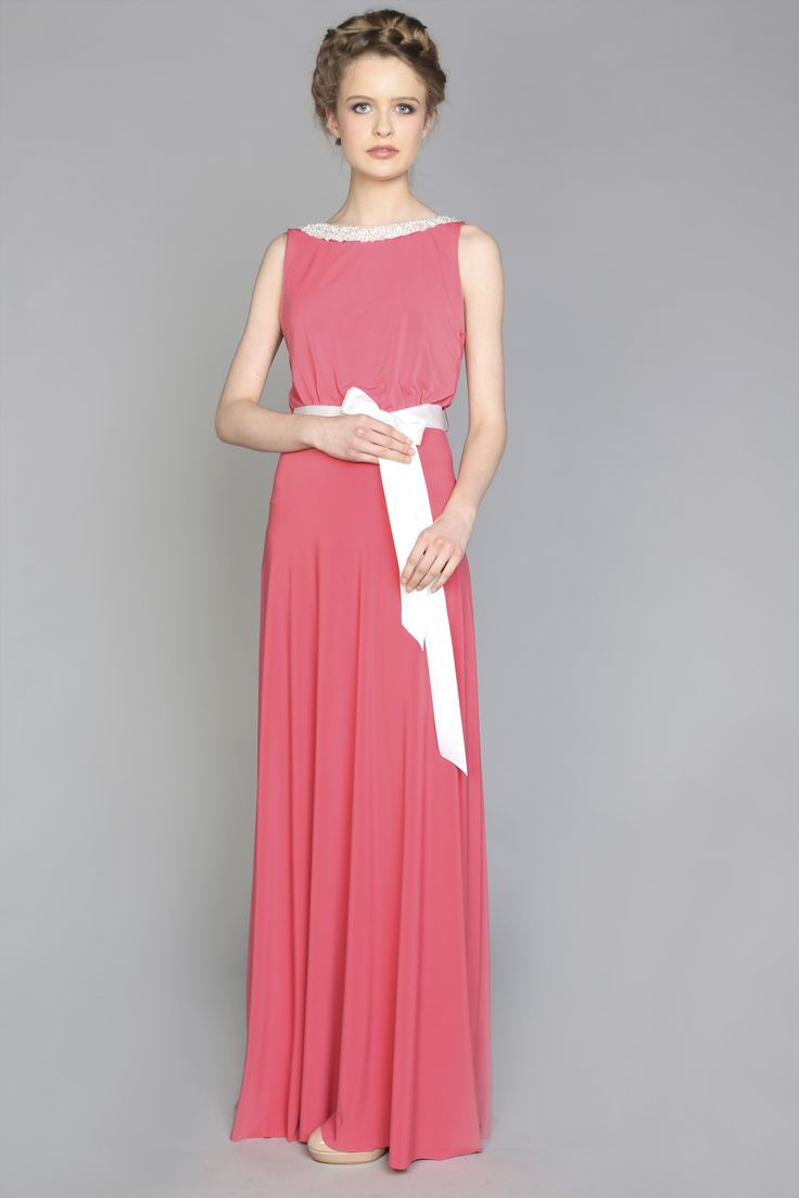 Bridesmaid dress coral dresscode.ie