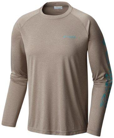 Columbia Men's Terminal Tackle Heather Shirt Kettle Heather/Teal XXL