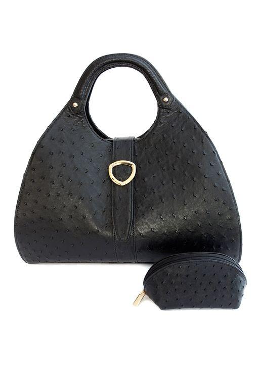 Contessa with make-up purse in Midnight Black. www.pedicollections.com