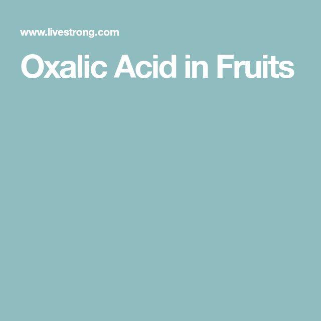 Oxalic Acid in Fruits