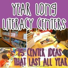 Why I don't want to work harder than I have to {or something like that} How to Create Smart Literacy Centers that Last All Year in Kindergarten