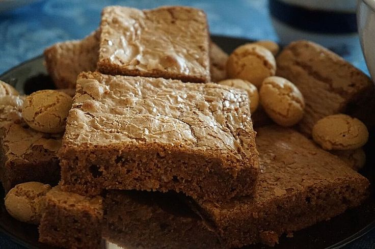 """Find on mybestgermanrecipes """"The Best German Marzipan Brownie Recipe"""" which is authentic German and super delicious. This German recipe is easy!"""