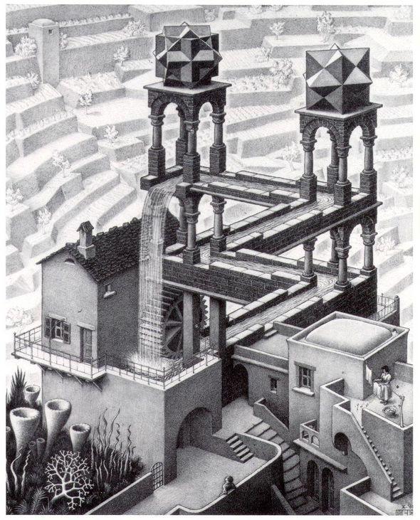 MC Escher  Waterfall