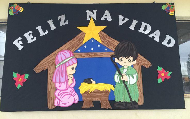 Peri dico mural escolar diciembre navidad pinterest for Diario mural escolar