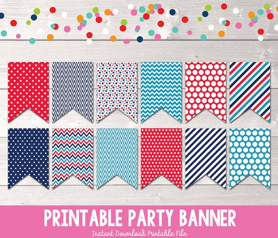 11 best Printable Party Banners images on Pinterest | Party ...