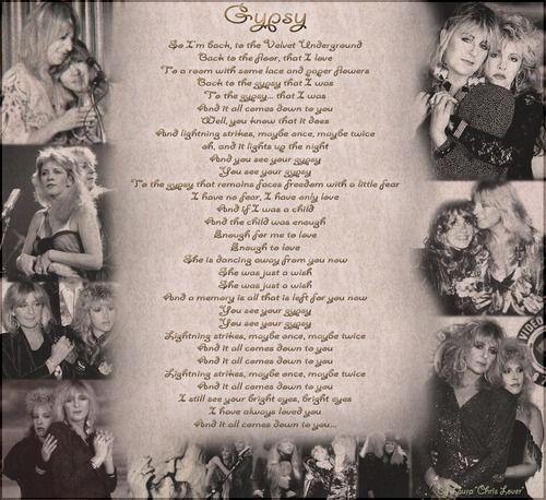fleetwood mac gypsy lyrics hd