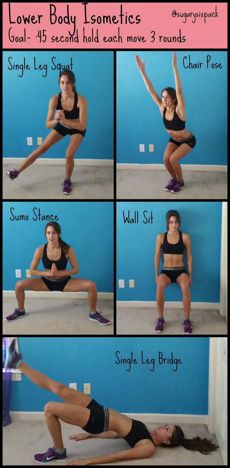 Tone your legs with these awesome Lower body isometric  moves! | www.sugarysixpack.com