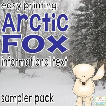 Freebie: Are you looking to improve your students' written responses to informational texts? Do your students struggle with writing or identifying the main idea? Do your students need extra practice with comprehension? This sampler pack of an arctic fox informational reading passages and comprehension questions will be sure to help!
