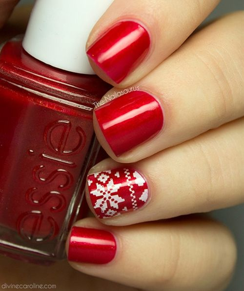 17 Best Ideas About Red Christmas Nails On Pinterest