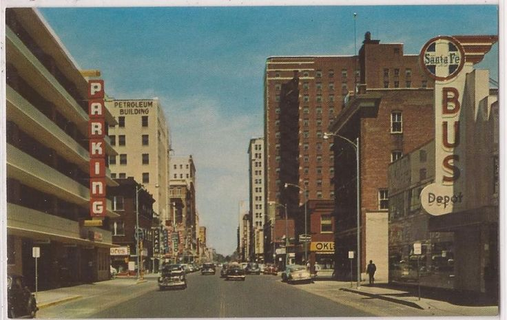 Wichita kansas postcard broadway street scene santa fe for Home depot wichita ks