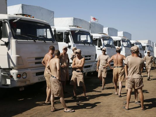 Ukraine says it 'destroyed' part of Russian military convoy