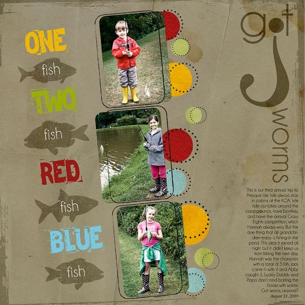 scrapbook page titles fishing rods