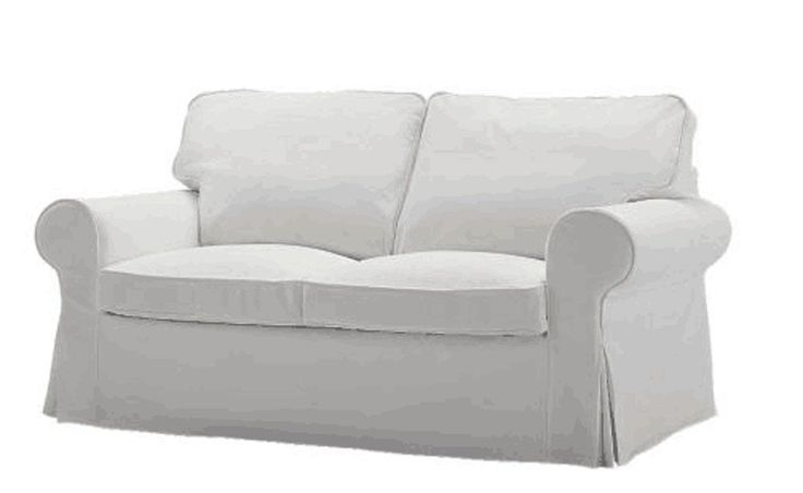 The Ektorp Two Seater Sofa Bed Cover (Durable Heavy Cotton) Replacement IS Custom Made For Ikea Ektorp 2 Seater Sleeper, Multi Color Slipcover Options (White)