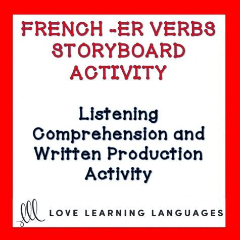 This is a listening comprehension activity focusing on regular -ER verbs in the present tense and is meant to be used with beginner French students. S