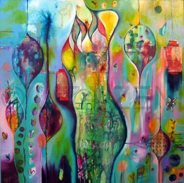 Liza zeni art pinterest flora love this and love for Mural inspiration