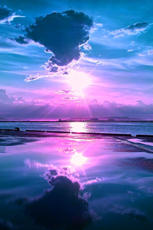 OH SO PRETTY IN HOT PINK sunset...in a dreamlike state