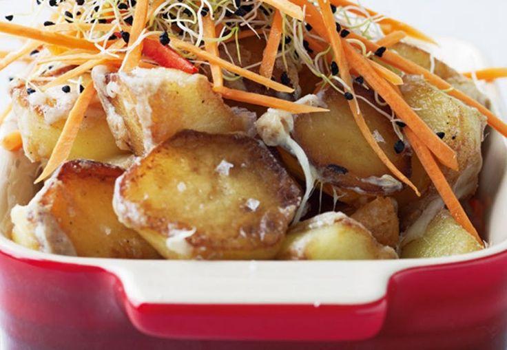 Opskrift på perfekt vintermad. Kartoflerne steges lækkert sprøde i gåsefedt.
