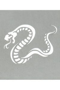 Stargazer - Tattoo Schablone - Kobra