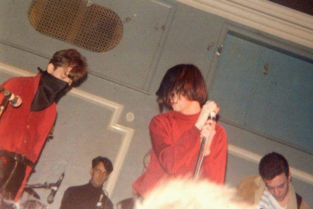Primal Scream live at the Clarendon, Hammersmith, London shot by Dave Driscoll in 1985. Primal Scream's first single 'All Fall Down' epitomises the Byrdsian, Love inspired wistful jangle sound that was beginning to engulf the UK indie scene in the mid '80s.The follow-up's B side, 'Velocity Girl' was included on NME's C86 cassette compilation.