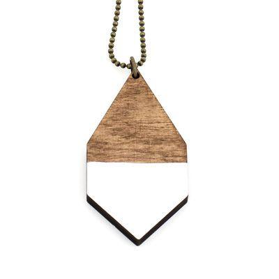 DIAMANTE big necklace in white