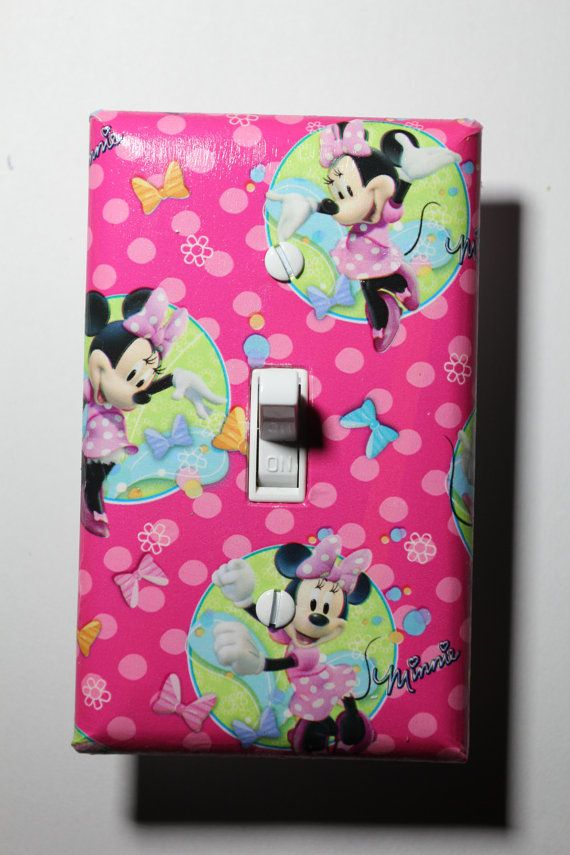 Minnie Mouse Disney Jr Light Switch Plate Cover by ComicRecycled, $6.99