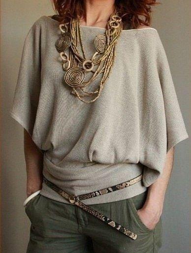 Блузка с рукавом летучая мышь (выкройки)