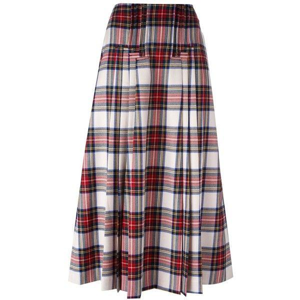 Rossella Jardini Tartan Check Maxi Skirt ($487) ❤ liked on Polyvore featuring skirts, multicolour, plaid skirt, multi color maxi skirt, colorful skirts, multi colored skirt and tartan maxi skirt