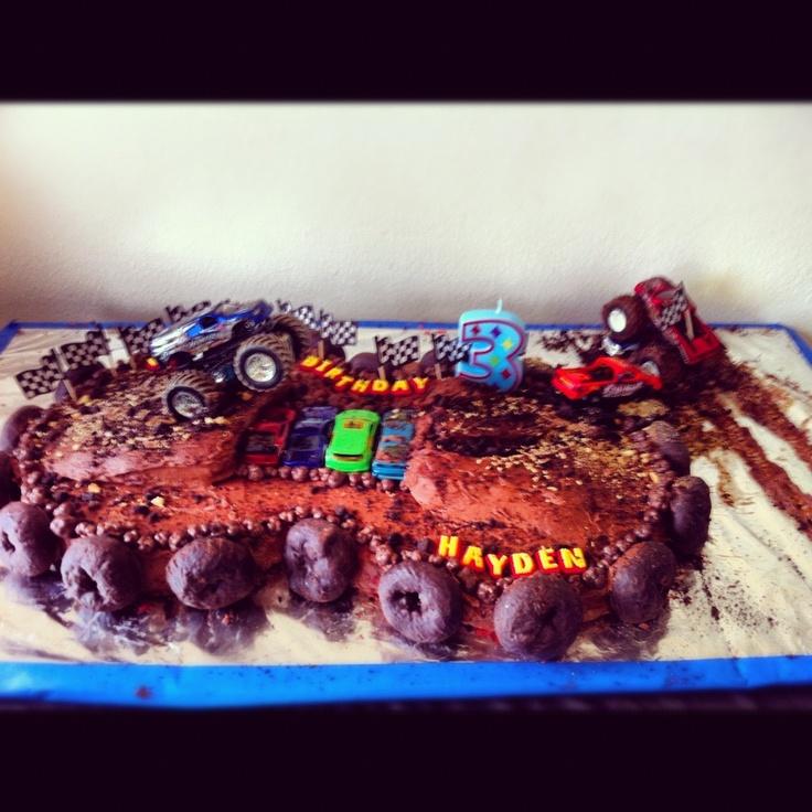 Hayden's Monster Truck Cake