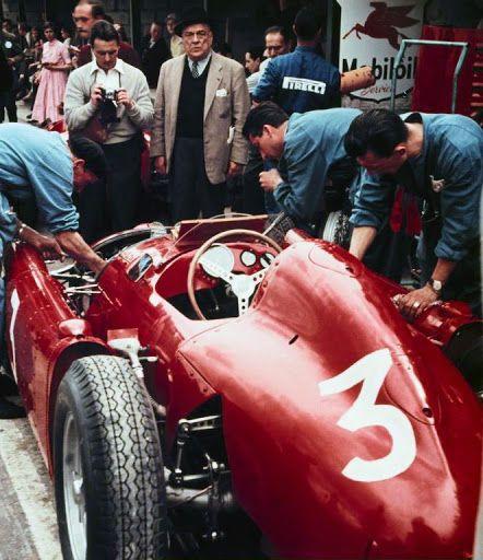 """dbslrt: """" La Lancia D50 d'Eugenio Castellotti, vainqueur du Grand Prix de Belgique 1955. """""""