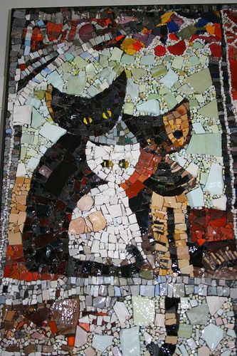 Cats & Kittens – Modern Mosaics – Ceramic Tile, China, Marble, Smalti, Stained…