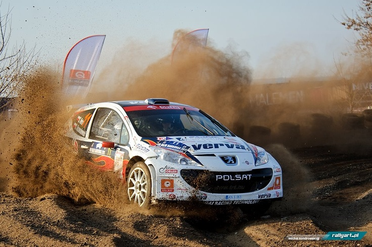rally car in action (peugeot 207 s2000)