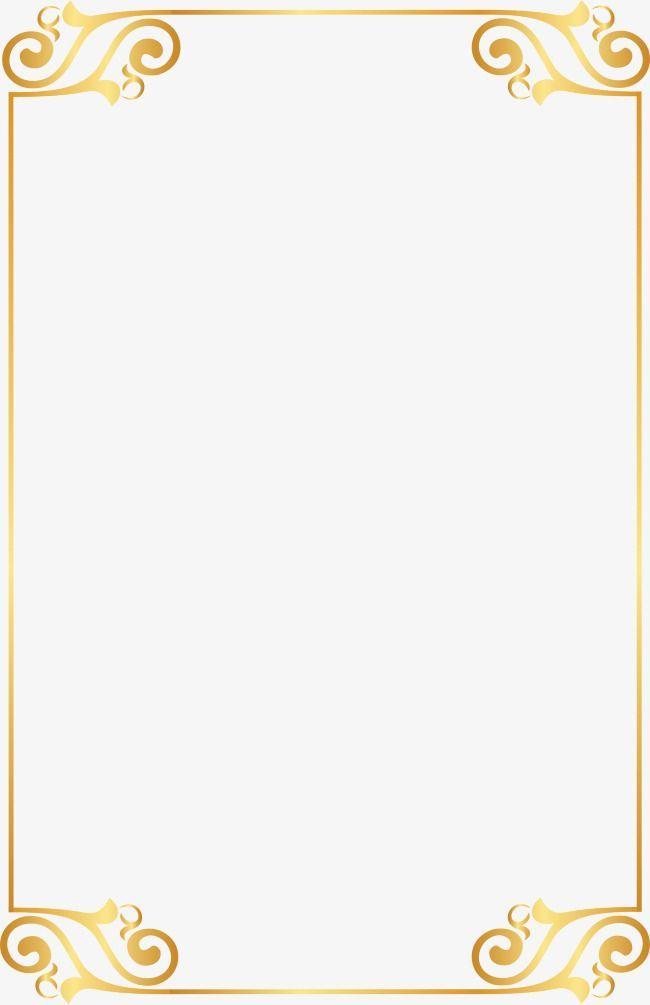 Gold Border Png Png Stock Com Clip Art Borders Border Pattern Page Borders Design