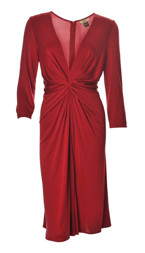 ISS wrap over dress in Raspberry