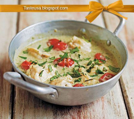 thai green curry with monkfish recipe
