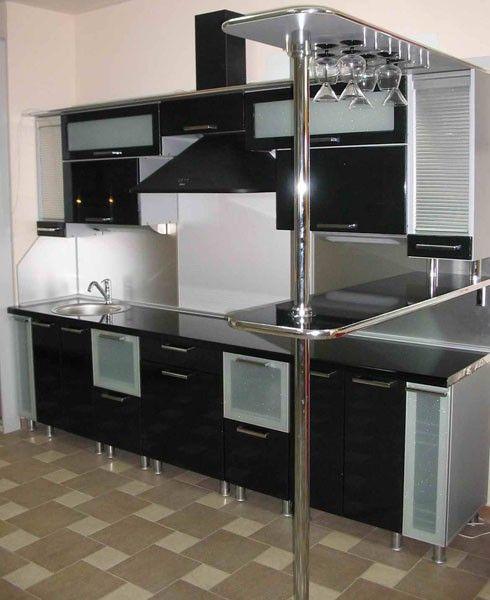 Дизайн кухни 8 кв. м в домах серии П-55 и П-44.