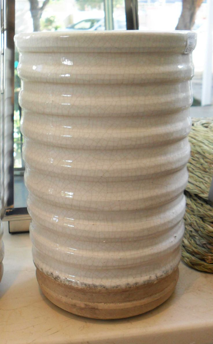 White Ceramic Vase - Inside Out Home Boutique