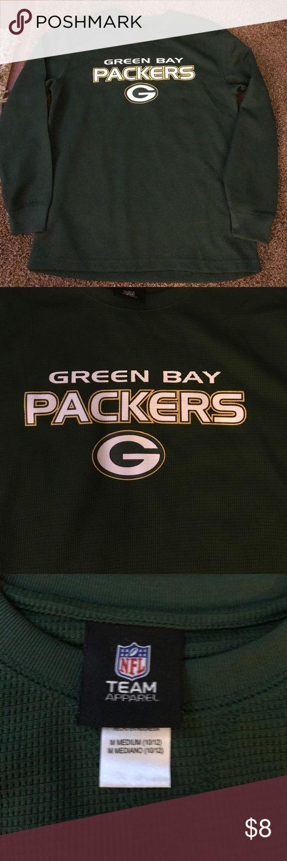 Green Bay Packers long sleeve Dark green. Green Bay packers NFL apparel long sleeve. Great condition. Size medium 10/12 NFL TEAM apparel Shirts & Tops Tees - Long Sleeve