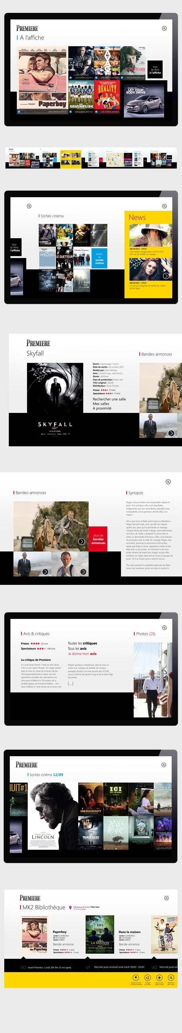 Premiere // Windows 8 by Fabien Stimulak, via Behance