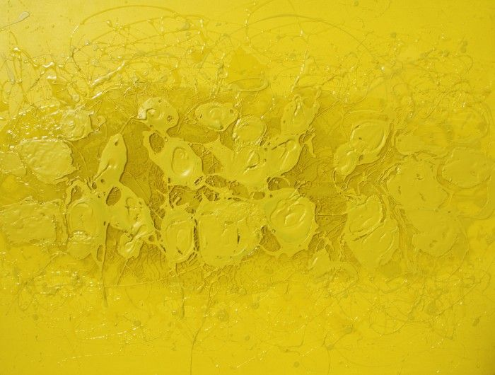 YELLOW ON YELLOW  |  mixed media on canvas  |  $940  |  #yellow #abstract #art #painting