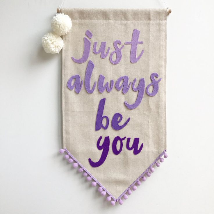 Image of Just always be you - Purple Ombre