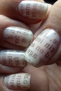 Newspaper Nails :)