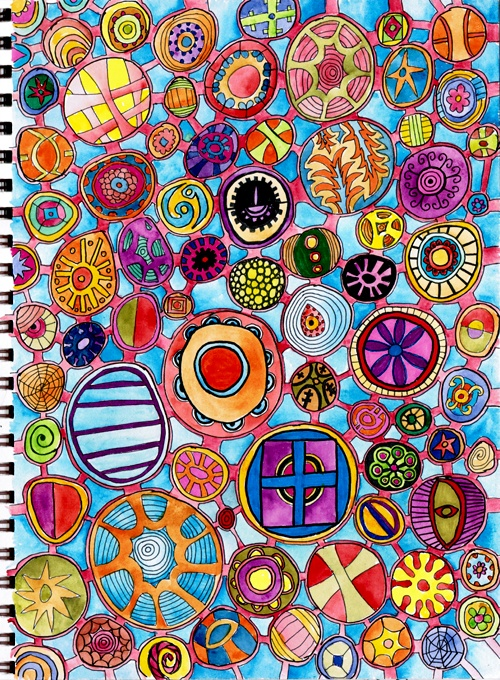 completed doodle by Traci Bunkers