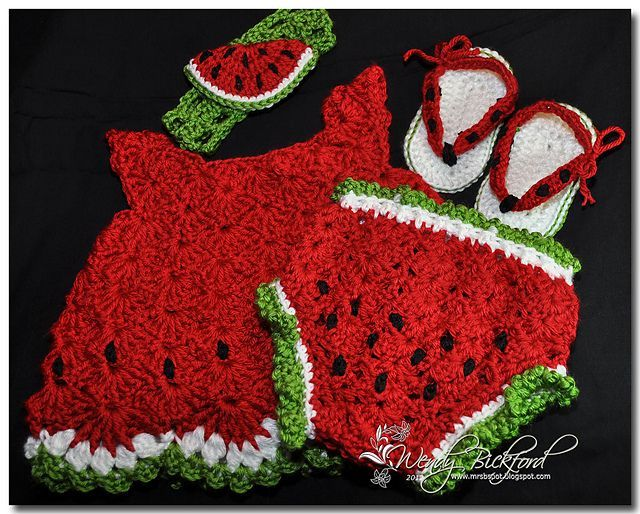 Free Crochet Watermelon Dress Pattern : 407 best images about Crochet Projects to Try on Pinterest ...