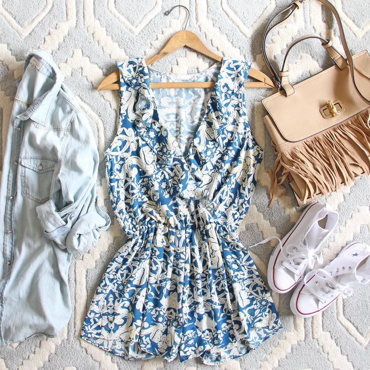 Blue Hush Romper, Sweet Summer Rompers from Spool No.72. | Spool No.72