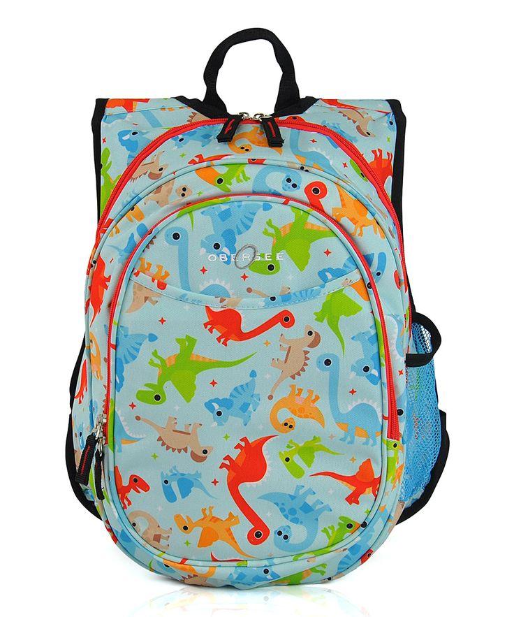 Teal Dinos Lunch Cooler Preschool Backpack