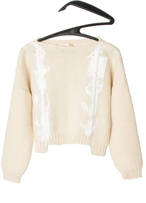 Short Knitted Sweater . mariaDovale . scar-id.com
